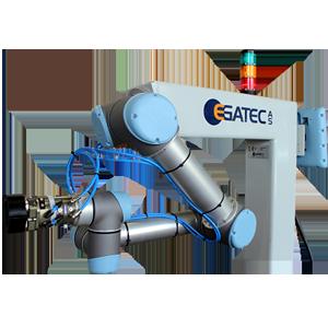 Robotcelle bygget med robot fra Universal Robots