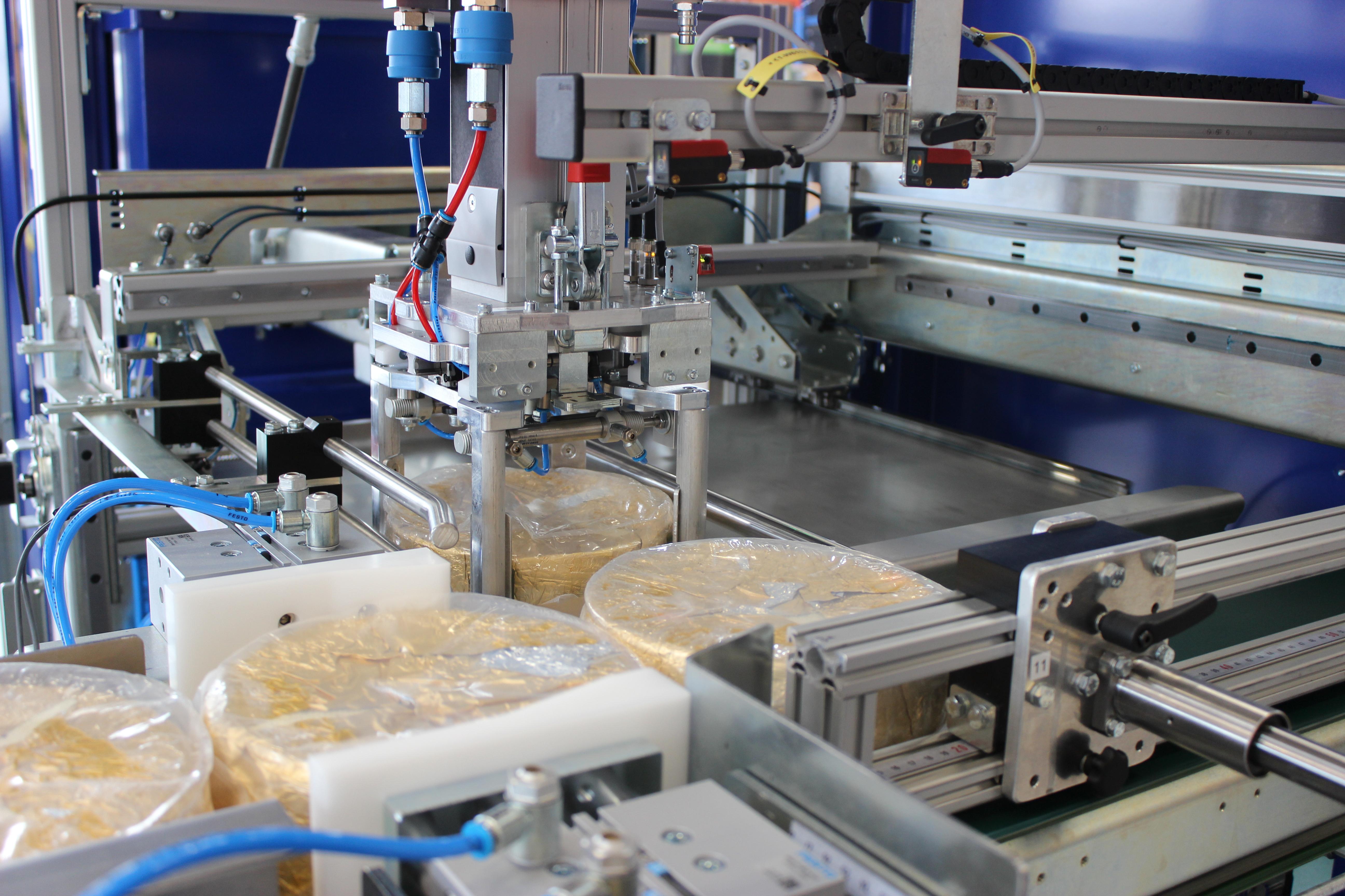 Pakning af oste i kasser - Egatec