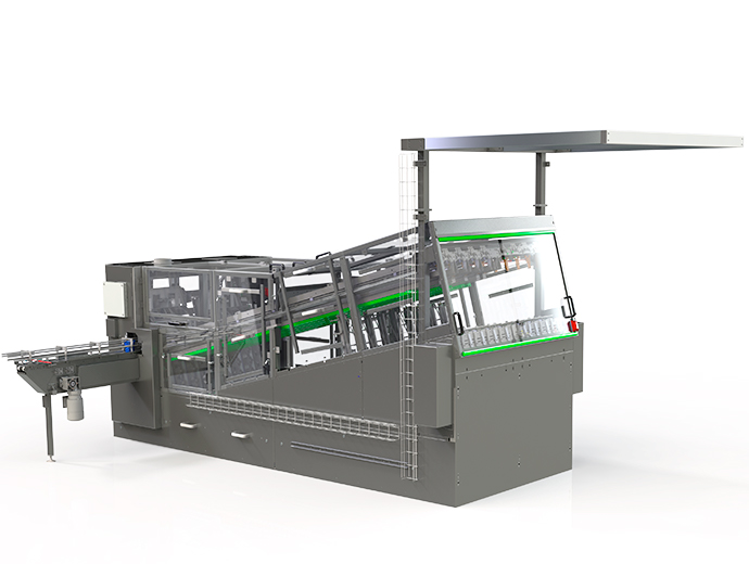 Dispensing machine with buffer - for cups and trays