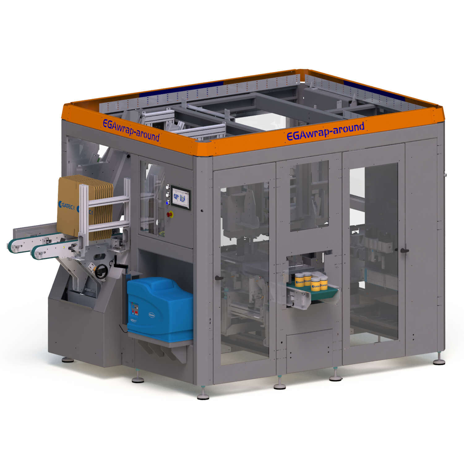 Wrap-around packaging machine