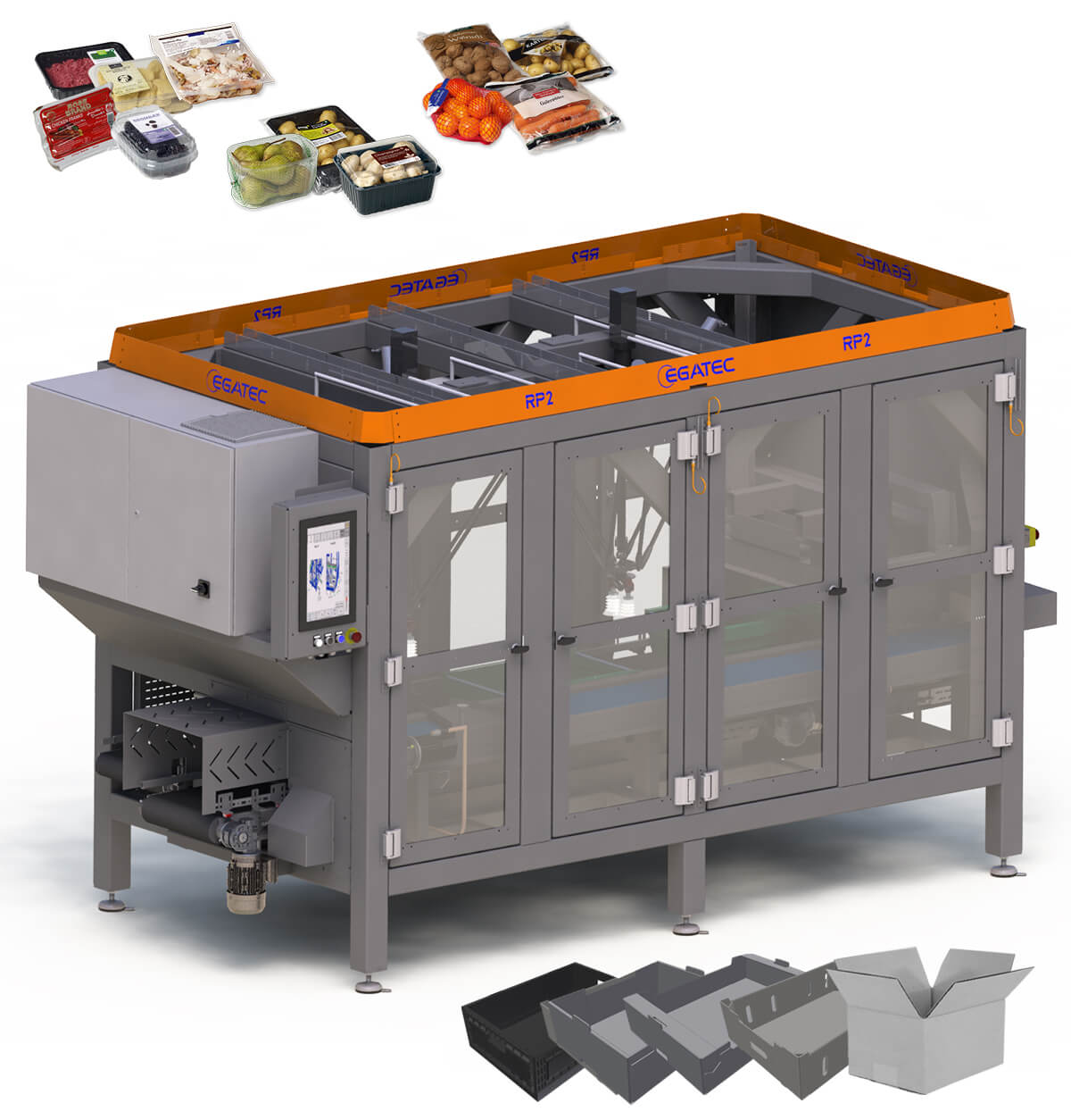 Robot packaging machine